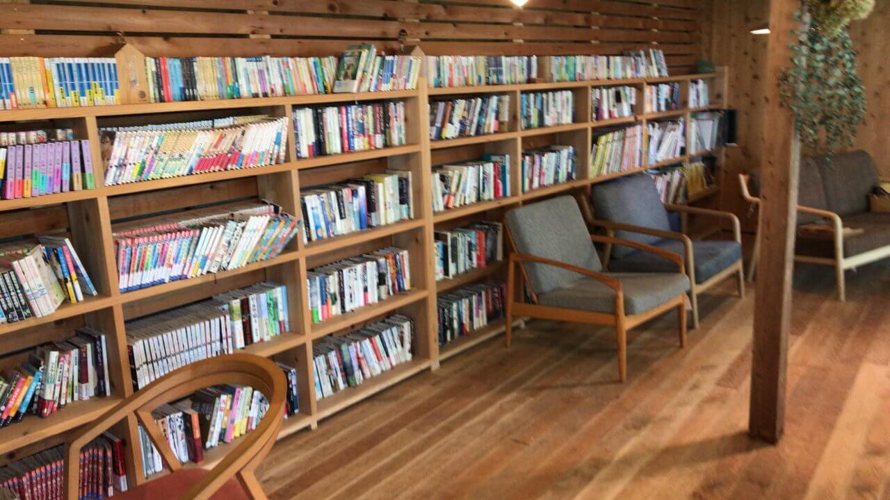 漫画も小説も山ほど置いてある。本好きのわたしはここで1日過ごせる…